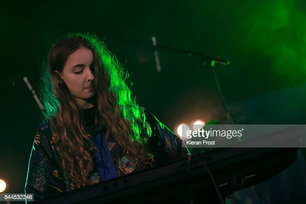 Jenny Hollingworth of Let's Eat Grandma performs at CastlePalooza at Charville Castle on July 2, 2016 in Tullamore, Ireland.