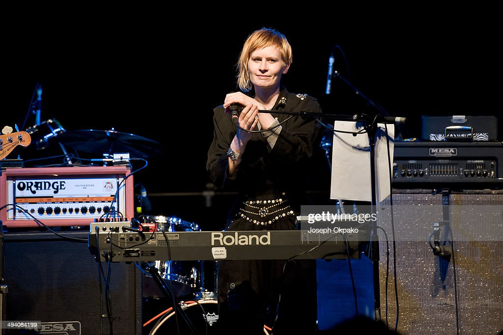 Jenny Hval performs on stage at Electric Brixton on May 27, 2014 in London, United Kingdom.