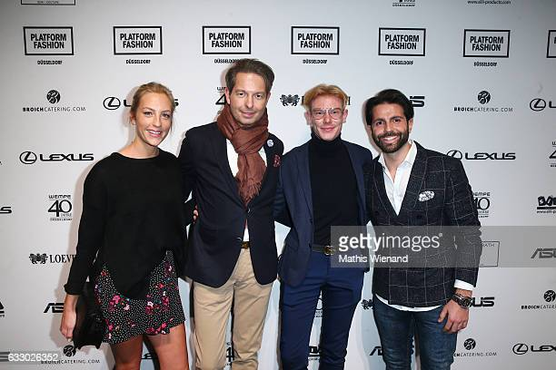 Jenny Jaeger Dirk Lichtherz Axel Mesier and Serhat Yilmaz attend the Thomas Rath show during Platform Fashion January 2017 at Areal Boehler on...