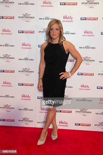 Jenny Jones attends the The Sunday Times and Sky Sports Sportswomen of the Year Awards in association with Vitality on November 6 2015 in London...