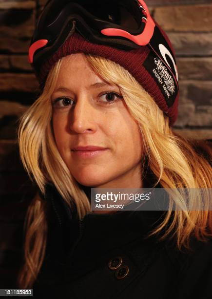 Jenny Jones of the Great Britain Freestyle Snowboard Team poses for a portrait during a Team GB Freeski and Freestyle Snowboard Media Day on...