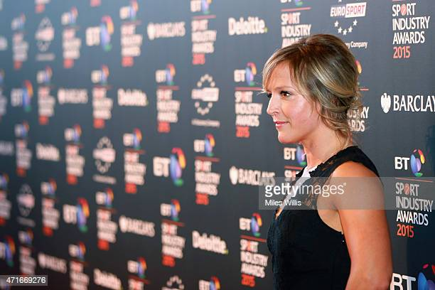 Jenny Jones poses on the red carpet at the BT Sport Industry Awards 2015 at Battersea Evolution on April 30 2015 in London England The BT Sport...