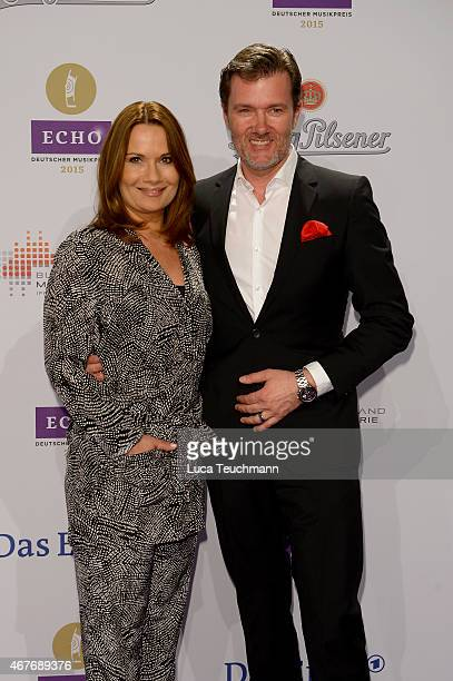 Jenny Juergens and John Juegens attend the Echo Award 2015 Red Carpet Arrivals on March 26 2015 in Berlin Germany