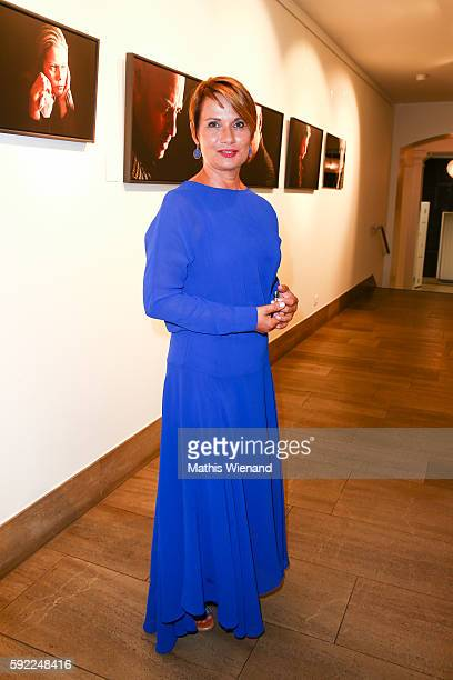 Jenny Juergens attends the Herzwerk Vernissage 'auf den 2ten Blick' at City Hall on August 19 2016 in Duesseldorf Germany