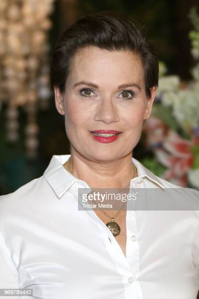 Jenny Juergens back at the TV sho 'Rote Rosen' on June 7 2018 in Hamburg Germany
