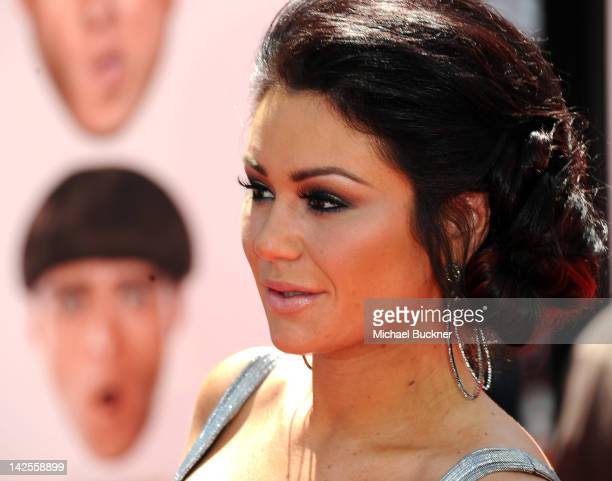 Jenny 'JWOWW' Farley attends the Los Angeles premiere of The Three Stooges on April 7 2012 in Hollywood California