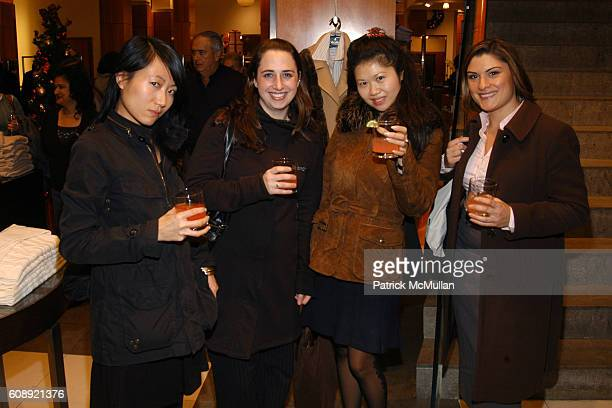 Jenny Lau Dianna Praga Jackie Lee and Nicole Kapral attend BROOKS BROTHERS HOSTS OVARIAN CANCER RESEARCH FUND BENEFIT at Brooks Brothers on November...