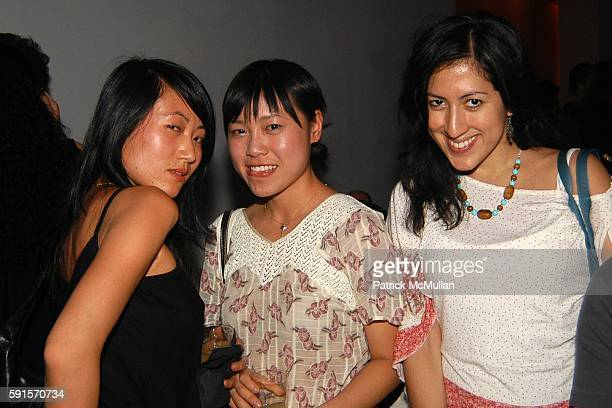 Jenny Lau Lana Cai and Jenny Ulloa attend LE BOOK 25th Anniversary Party Presented by Land Rover at Skylight Studios on June 15 2005 in New York City