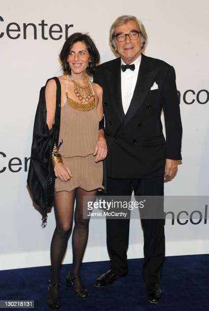 Jenny Lauren and Jerry Lauren attend an evening with Ralph Lauren hosted by Oprah Winfrey and presented at Lincoln Center on October 24 2011 in New...