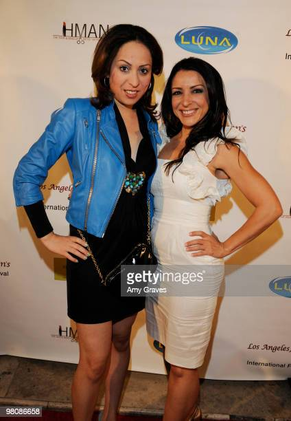 Jenny Leeser and Anastasia Fontaines attends the Los Angeles Women's International Film Festival Opening Night Gala at Libertine on March 26 2010 in...