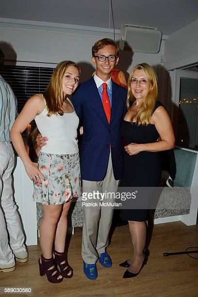 Jenny Lenz Cole Rumbough and Dolly Lenz attend Oreya Salutes Julian Niccolini of The Four Seasons Restaurant at OREYA Hamptons on August 11 2016 in...