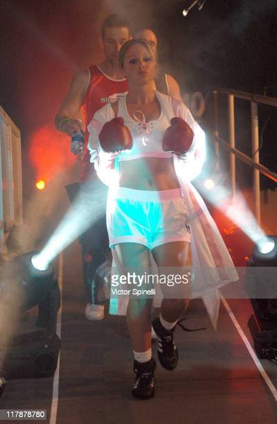 Jenny Leone during Perfect 10 Magazine Model Boxing at The Grand Olympic Auditorium in Los Angeles California United States