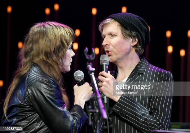 Jenny Lewis and Beck perform onstage during CORE Gala A Gala Dinner to Benefit CORE and 10 Years of LifeSaving Work Across Haiti Around the World at...