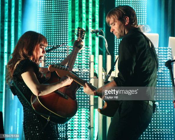 Jenny Lewis And Ben Gibbard Of The Postal Service Perform During