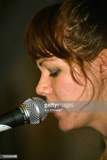 Jenny Lewis of Rilo Kiley during Rilo Kiley InStore Appearance at Amoeba Records in Hollywood California United States