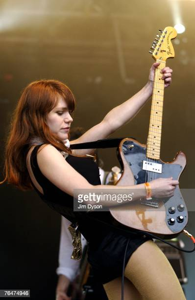 Jenny Lewis of Rilo Kiley performs on the Guitars Other Machines Stage during the second day of the inaugural Connect Music Fesival held in the...