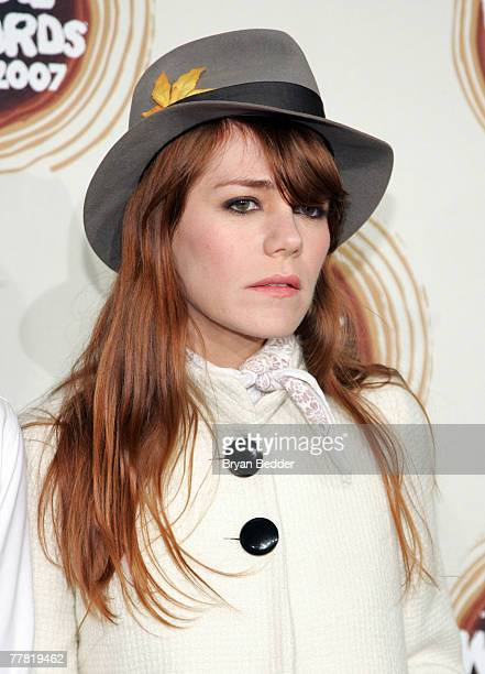 Jenny Lewis of the band Rilo Kiley attends the 2007 mtvU Woodie Awards at Roseland Ballroom November 8 2007 in New York City