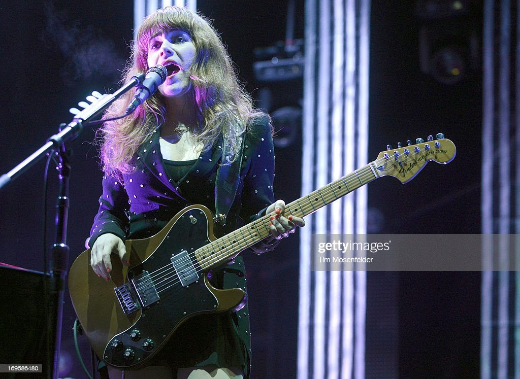 Jenny Lewis of The Postal Service performs as part of Day 4 of the Sasquatch! Music Festival at the Gorge Amphitheatre on May 27, 2013 in George, Washington.
