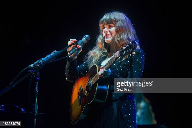 Jenny Lewis of The Postal Service performs live at the Sasquatch Music Festival at The Gorge on May 27 2013 in George Washington