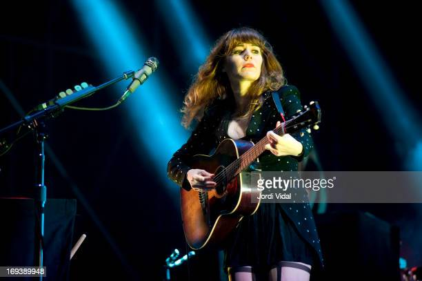 Jenny Lewis of The Postal Service performs on stage at Parc del Forum on Day 2 of Primavera Sound Festival on May 23, 2013 in Barcelona, Spain.