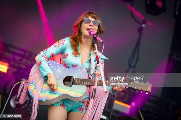 Jenny Lewis performs at the Osheaga Music and Art Festival at Parc JeanDrapeau on August 3 2018 in Montreal Canada