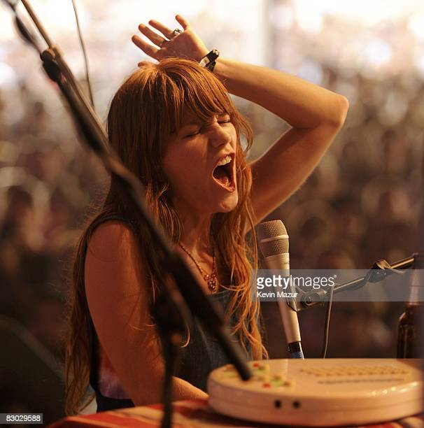 Jenny Lewis performs at Zilker Park during the 2008 Austin City Limits Festival on September 26, 2008 in Austin, Texas.