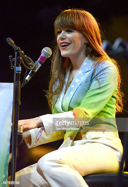 Jenny Lewis performs during the Life is Beautiful Festival in downtown Las Vegas on October 24 2014 in Las Vegas Nevada