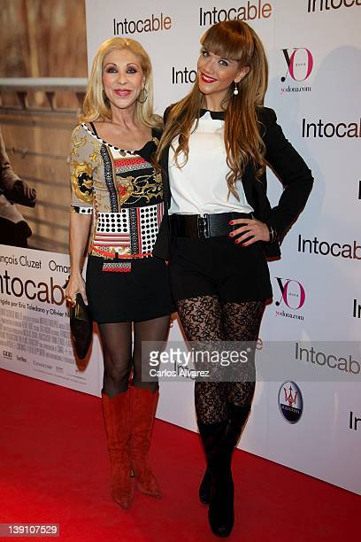 Jenny Llada and Beatriz Trapote attend Intouchables premiere at Palafox cinema on February 16 2012 in Madrid Spain
