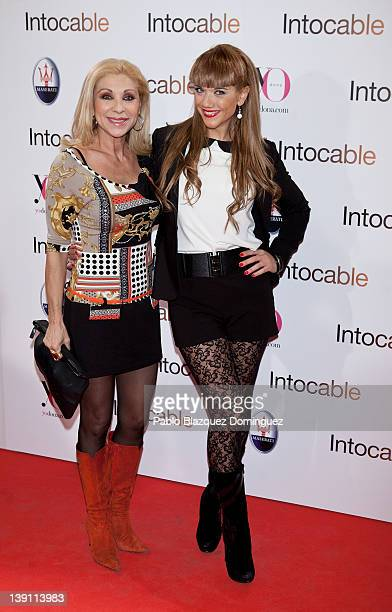 Jenny Llada ansd Beatriz Traote attend 'Intouchables' premiere at Palafox cinema on February 16 2012 in Madrid Spain