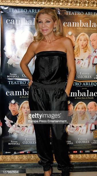 Jenny Llada attends 'Cambalache' theatre play premiere on October 3 2011 in Madrid Spain