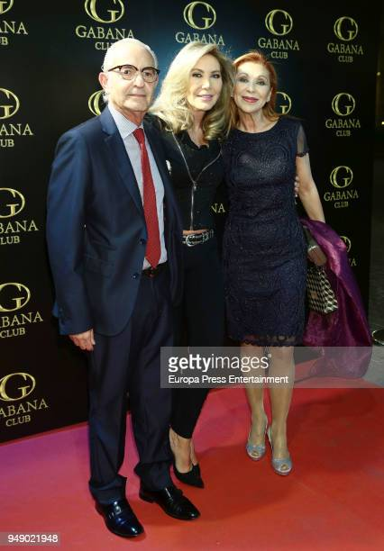 Jenny Llada attends the Norma Duval's 62th birthday at Gabana club on April 19 2018 in Madrid Spain
