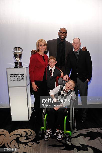 Jenny Long 2012 Sportskid Conner Long 2012 Sportsman of the Year LeBron James Cayden Long and Jeff Long attend the 2012 Sports Illustrated Sportsman...