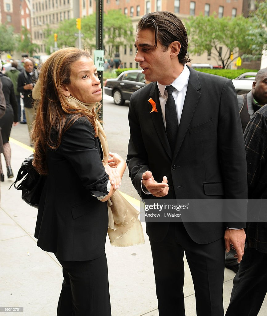 Jenny Lumet and Bobby Cannavale attend funeral services for entertainer Lena Horne at St. Ignatius Loyola Church on May 14, 2010 in New York City.