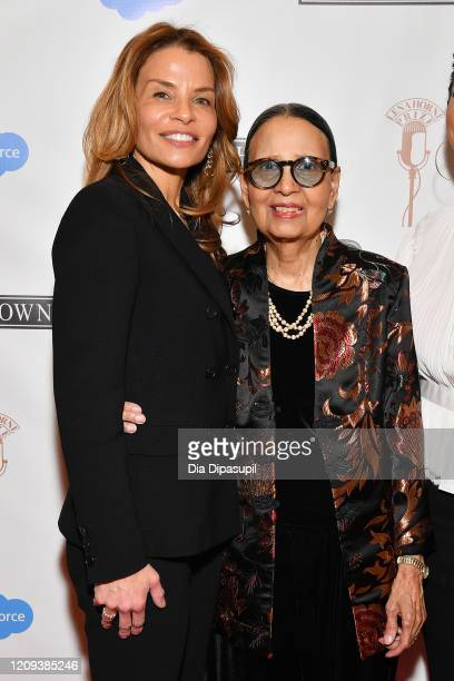 Jenny Lumet and Gail Lumet Buckley attend The Lena Horne Prize for Artists Creating Social Impact inaugural celebration at The Town Hall on February...