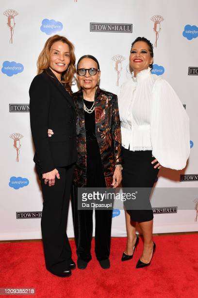 Jenny Lumet Gail Lumet Buckley and Cristina Mancini Jones attend The Lena Horne Prize for Artists Creating Social Impact inaugural celebration at The...