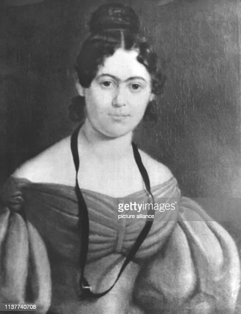 Jenny Marx, geborene von Westphalen, auf einem um 1835 entstandenen Gemälde eines unbekannten Malers. Sie war die Ehefrau des deutschen Philosophen...