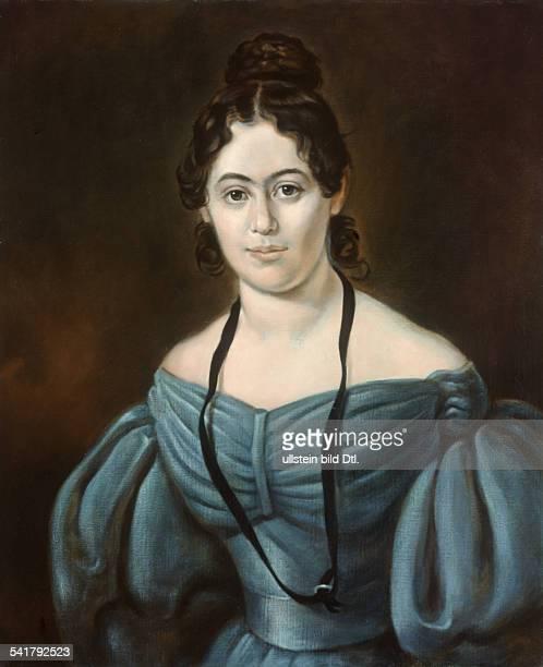 Jenny Marx*18141881Ehefrau von Karl Marx Porträt in schulterfreiem KleidGemälde 1835