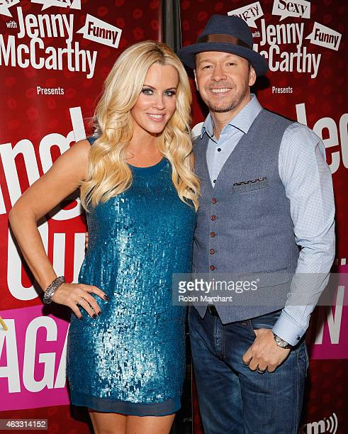 Jenny McCarthy and Donnie Wahlberg attend Singled OutAgain On Her Exclusive SiriusXM Show Dirty Sexy Funny With Jenny McCarthy on February 12 2015 in...
