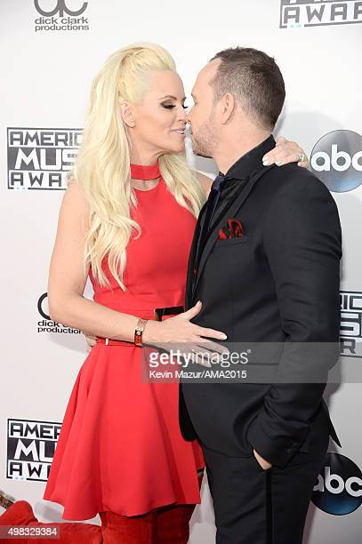 Jenny McCarthy and Donnie Wahlberg attend the 2015 American Music Awards at Microsoft Theater on November 22 2015 in Los Angeles California