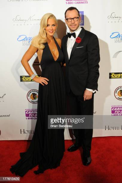 Jenny McCarthy and Donnie Wahlberg attends the Dancing with the Stars Charity event hosted by Jenny McCarthy on August 24 2013 at Hotel Baker in St...