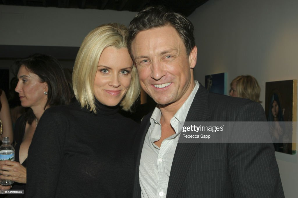 Jenny McCarthy and Dr. Randal Haworth during Dr. Randal Haworth Art Show at 216 N. Canyon Drive in Beverly Hills, California, United States.