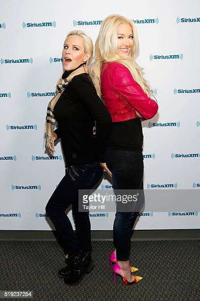 Jenny McCarthy and Erika Jayne visit 'Dirty Sexy Funny with Jenny McCarthy' at the SiriusXM Studios on April 5 2016 in Los Angeles California