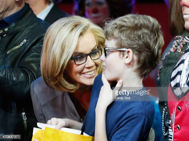 Jenny McCarthy and Evan Joseph Asher attend Ringling Bros and Barnum Bailey presents Legends at Barclays Center of Brooklyn on February 20 2014 in...