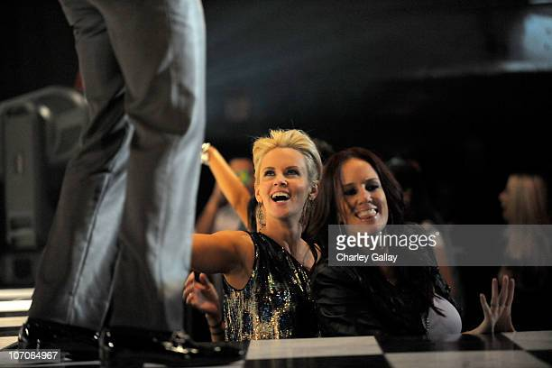Jenny McCarthy and her sister JoJo attend the VEVO and Compound Entertainment Present Ne Yo And Friends Inside at Avalon on November 21 2010 in...