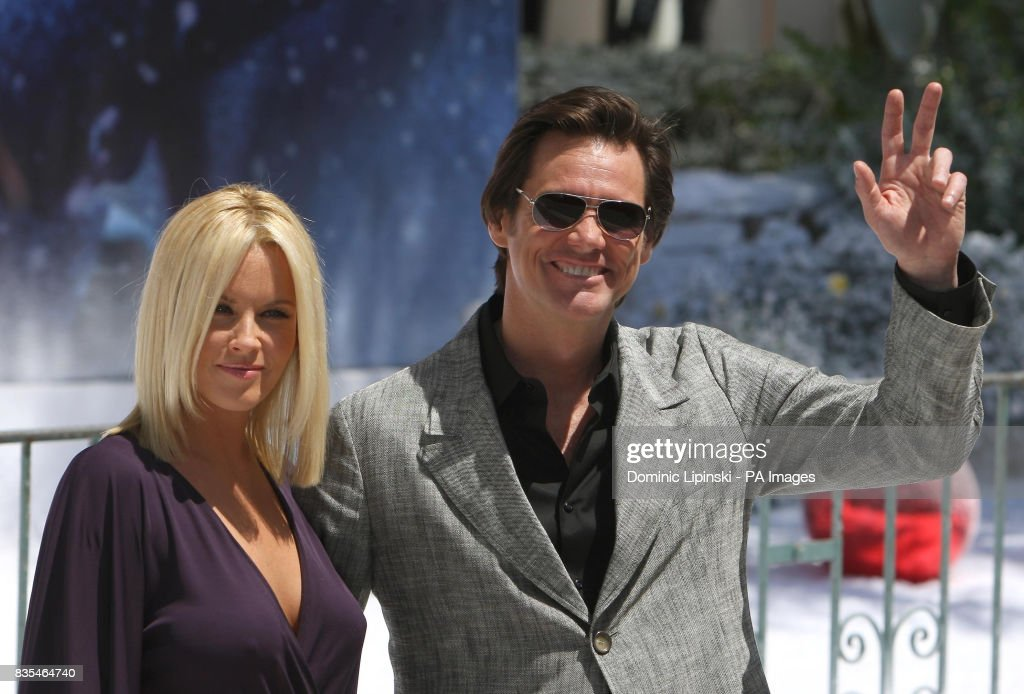 Jenny McCarthy and Jim Carrey at a photocall for Disney\'s film, \'A ...