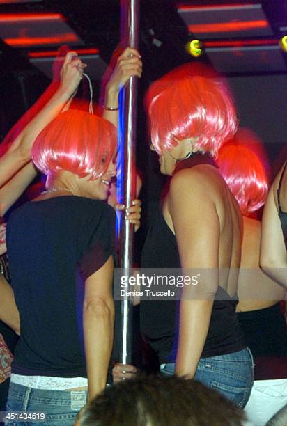 Jenny McCarthy and Joanne McCarthy during Jenny McCarthy Hosts Her Sister Amy McCarthy's Birthday Party at JET Nichtcub at The Mirage Hotel and...