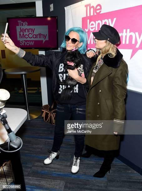 Jenny McCarthy and Lala Kent visit SiriusXM at SiriusXM Studios on February 21 2018 in New York City