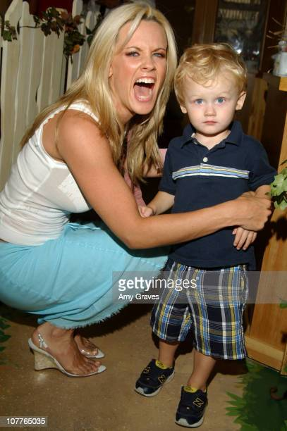 Jenny McCarthy and son Evan Asher during Connie Stevens Joely Fisher and Tricia Leigh Fisher Open Nana's Garden at Nana's Garden in Beverly Hills...