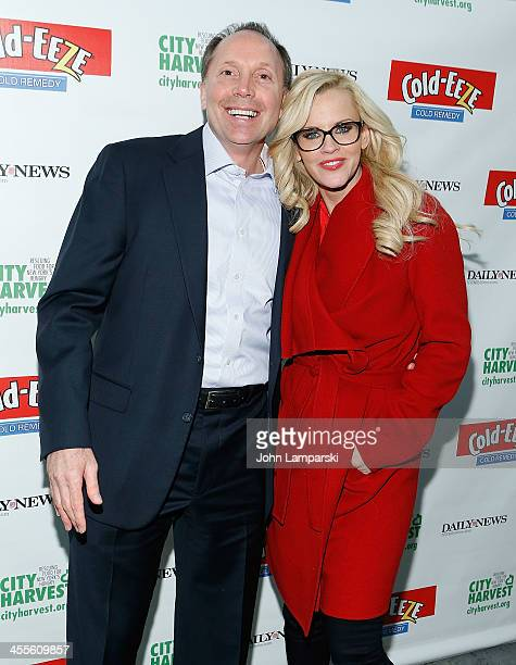 Jenny McCarthy and Ted Karkus CEO of ProPhase attends the The 2013 Daily News Readers Care To Feed the Hungry Canned Food Drive Hosted By City...