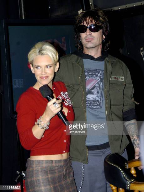 Jenny McCarthy and Tommy Lee during VH1 Big in '04 Backstage and Audience at Shrine Auditorium in Los Angeles California United States